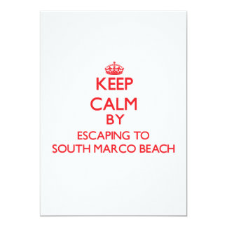 Keep calm by escaping to South Marco Beach Florida 5x7 Paper Invitation Card