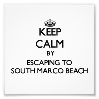 Keep calm by escaping to South Marco Beach Florida Photographic Print