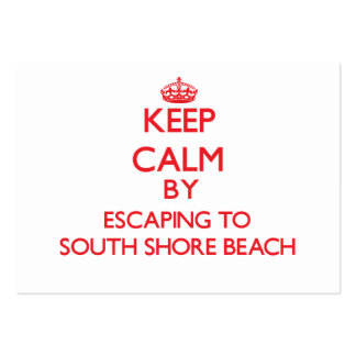 Keep calm by escaping to South Shore Beach Rhode I Large Business Cards (Pack Of 100)
