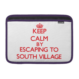 Keep calm by escaping to South Village Massachuset Sleeves For MacBook Air