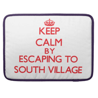 Keep calm by escaping to South Village Massachuset Sleeves For MacBooks