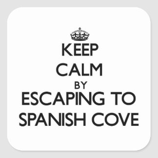 Keep calm by escaping to Spanish Cove Alabama Square Sticker