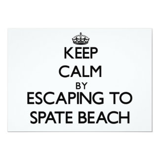 Keep calm by escaping to Spate Beach Washington Personalized Announcements