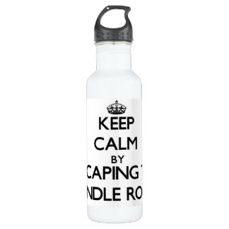 Keep calm by escaping to Spindle Rock Massachusett 24oz Water Bottle