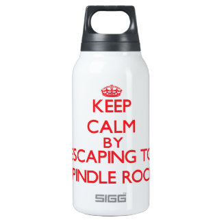 Keep calm by escaping to Spindle Rock Massachusett 10 Oz Insulated SIGG Thermos Water Bottle