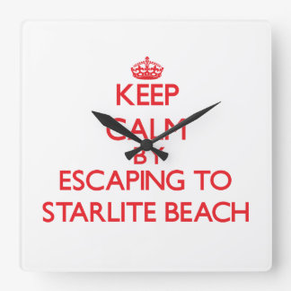 Keep calm by escaping to Starlite Beach Michigan Wall Clock