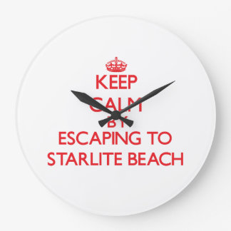 Keep calm by escaping to Starlite Beach Michigan Clock