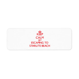 Keep calm by escaping to Starlite Beach Michigan Return Address Label