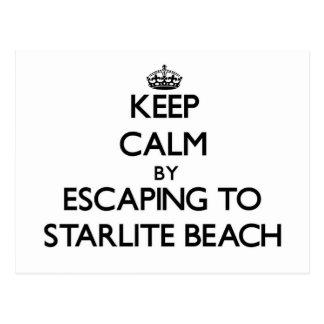 Keep calm by escaping to Starlite Beach Michigan Postcard