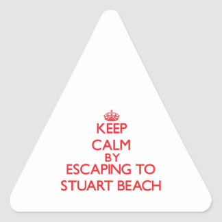Keep calm by escaping to Stuart Beach Florida Triangle Stickers