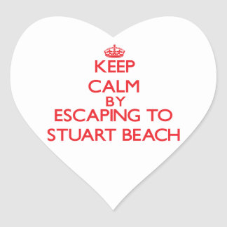 Keep calm by escaping to Stuart Beach Florida Stickers