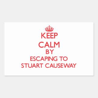 Keep calm by escaping to Stuart Causeway Florida Rectangular Sticker