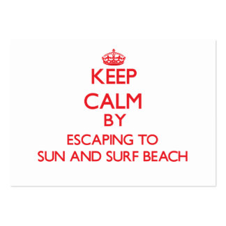 Keep calm by escaping to Sun And Surf Beach New Yo Business Card Template