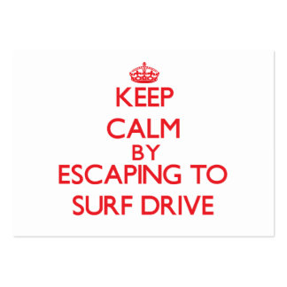 Keep calm by escaping to Surf Drive Massachusetts Business Card Template