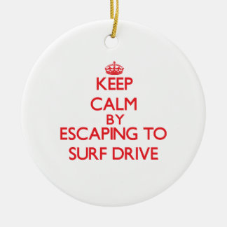 Keep calm by escaping to Surf Drive Massachusetts Christmas Tree Ornaments