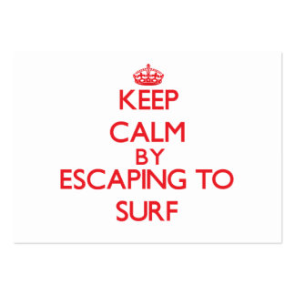 Keep calm by escaping to Surf New Jersey Business Card Template