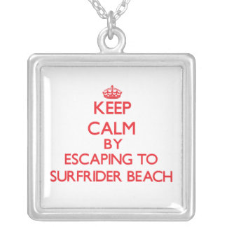 Keep calm by escaping to Surfrider Beach Californi Jewelry