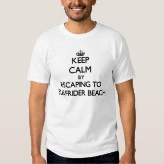 Keep calm by escaping to Surfrider Beach Californi Tees