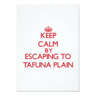 "Keep calm by escaping to Tafuna Plain Samoa 5"" X 7"" Invitation Card"