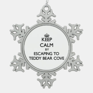 Keep calm by escaping to Teddy Bear Cove Washingto Ornaments