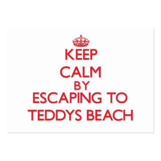 Keep calm by escaping to Teddys Beach Rhode Island Large Business Cards (Pack Of 100)