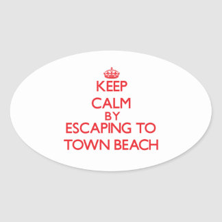 Keep calm by escaping to Town Beach Connecticut Sticker