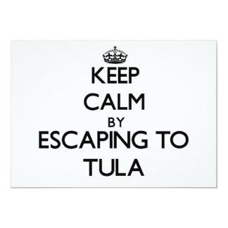 "Keep calm by escaping to Tula Samoa 5"" X 7"" Invitation Card"