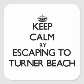 Keep calm by escaping to Turner Beach Florida Sticker