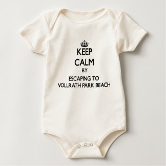 Keep calm by escaping to Vollrath Park Beach Wisco Baby Bodysuits