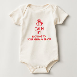 Keep calm by escaping to Vollrath Park Beach Wisco Bodysuits