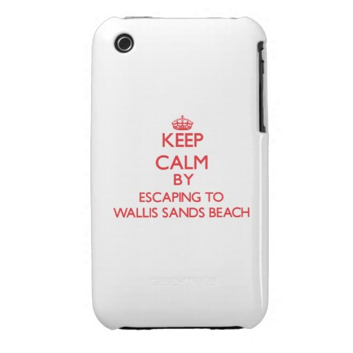 Keep calm by escaping to Wallis Sands Beach New Ha iPhone 3 Cover