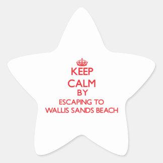 Keep calm by escaping to Wallis Sands Beach New Ha Star Sticker