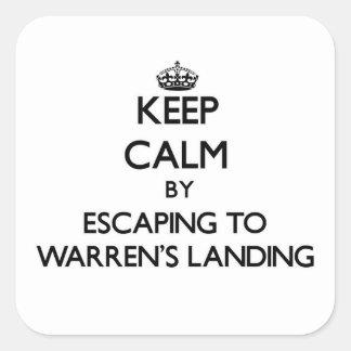 Keep calm by escaping to Warren'S Landing Massachu Square Sticker