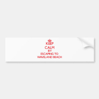 Keep calm by escaping to Waveland Beach Mississipp Bumper Sticker
