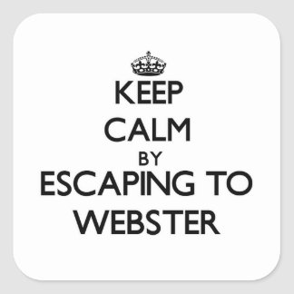 Keep calm by escaping to Webster New Jersey Square Sticker