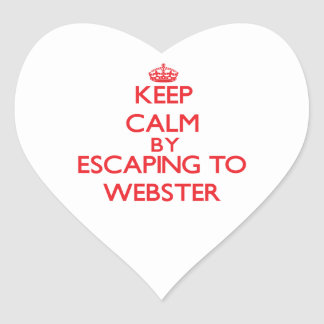 Keep calm by escaping to Webster New Jersey Heart Sticker