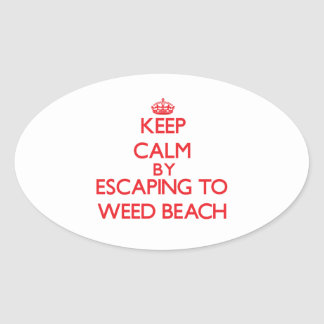 Keep calm by escaping to Weed Beach Connecticut Stickers