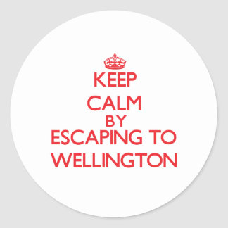 Keep calm by escaping to Wellington Maryland Sticker