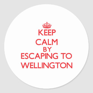 Keep calm by escaping to Wellington Maryland Stickers