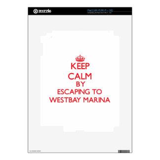 Keep calm by escaping to Westbay Marina Washington iPad 2 Decals