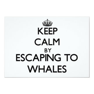 Keep calm by escaping to Whales Massachusetts Card
