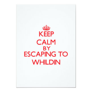 Keep calm by escaping to Whildin New Jersey 5x7 Paper Invitation Card