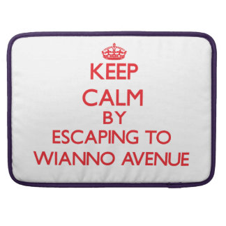 Keep calm by escaping to Wianno Avenue Massachuset Sleeve For MacBook Pro
