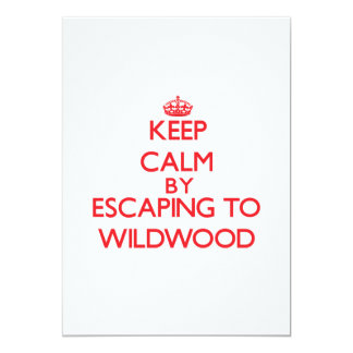 Keep calm by escaping to Wildwood New Jersey 5x7 Paper Invitation Card
