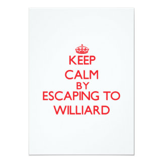 Keep calm by escaping to Williard New Jersey 5x7 Paper Invitation Card