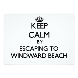 Keep calm by escaping to Windward Beach New Jersey 5x7 Paper Invitation Card