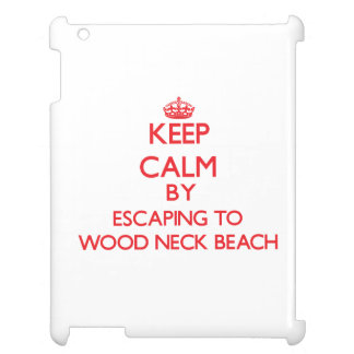 Keep calm by escaping to Wood Neck Beach Massachus iPad Covers