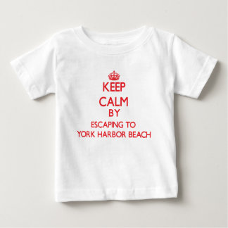 Keep calm by escaping to York Harbor Beach Maine Baby T-Shirt