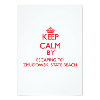 Keep calm by escaping to Zmudowski State Beach Cal Personalized Announcement