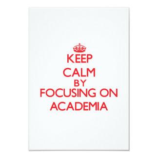 Keep Calm by focusing on Academia Custom Announcement